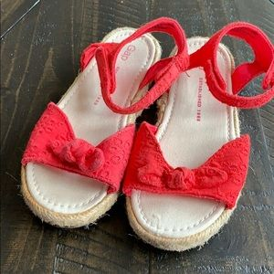 Girls red espadrilles size 11